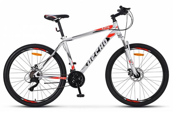 Десна 2710 MD 27.5 V020 (2019) - горный велосипед начального уровня с мужской рамой. Особенности велосипеда - дисковые механические тормоза, амортизационная вилка, 21 скорость и 27,5-дюймовые колеса.