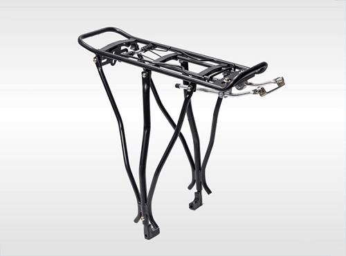 Багажник алюминиевый разборный универсальный, с креплением под дисковый тормоз, для 24-28' велосипеда, макс. нагрузка 25кг, цвет черный