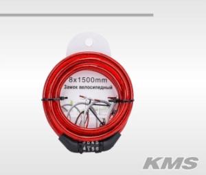 Велозамок «Pulse», трос Ø 8*1500, кодовый.
