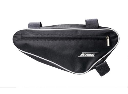 """Велосумка """"КМS"""", подрамная передняя треугольная, черная, два отделения, материал ПВХ с водоотталкивающей пропиткой, застежка-молния"""