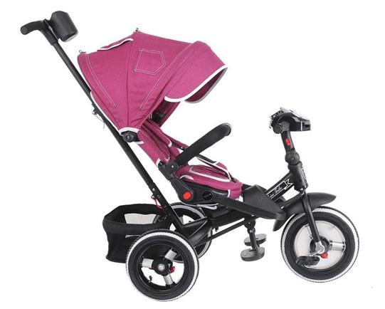 Велосипед трехколесный Mini trike, джинс бордовый