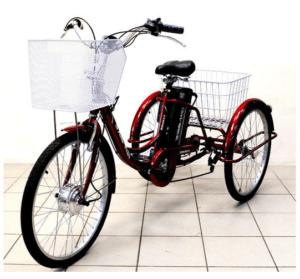 Электровелосипед трехколесный Иж-Байк Фермер (красный)