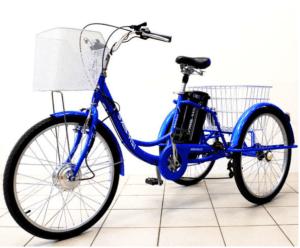 Электровелосипед трехколесный Иж-Байк Фермер (синий)